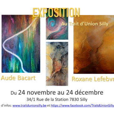 Exposition: du 24/11 au 24/12 -Présence des artistes les 24/11 et 15/12